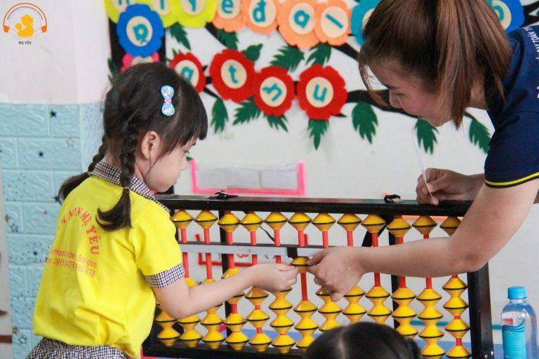 toán tư duy abacus master mầm non yêu thương